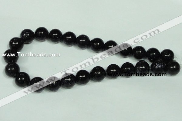 CGS102 15.5 inches 16mm round blue goldstone beads wholesale