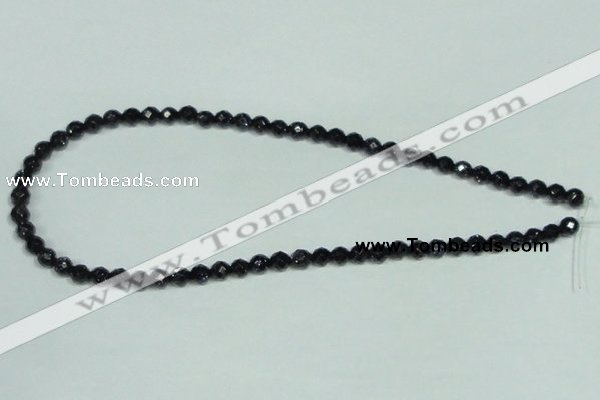 CGS105 15.5 inches 6mm faceted round blue goldstone beads wholesale
