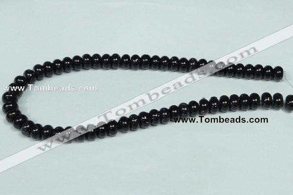 CGS113 15.5 inches 6*10mm rondelle blue goldstone beads wholesale