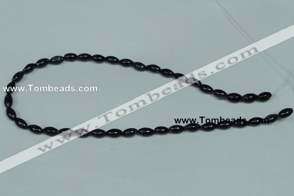 CGS120 15.5 inches 6*10mm rice blue goldstone beads wholesale