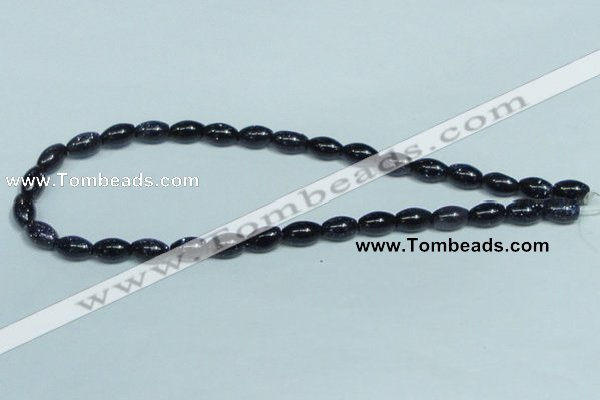 CGS121 15.5 inches 8*12mm rice blue goldstone beads wholesale