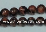 CGS203 15.5 inches 10mm round blue & brown goldstone beads wholesale