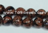 CGS204 15.5 inches 12mm round blue & brown goldstone beads wholesale