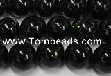 CGS402 15.5 inches 8mm round green goldstone beads wholesale