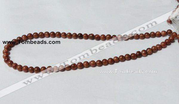 CGS50 15.5 inches 6mm round goldstone beads wholesale