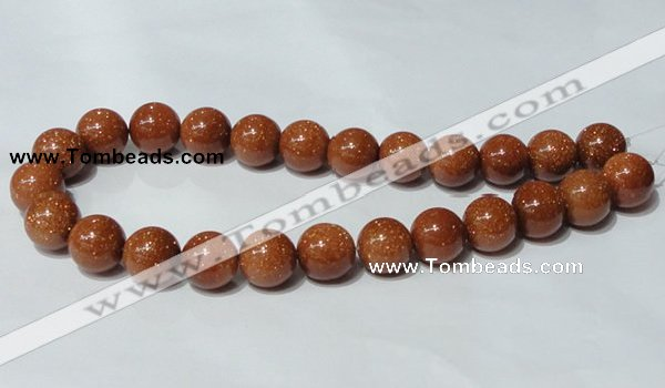 CGS54 15.5 inches 16mm round goldstone beads wholesale