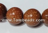 CGS55 15.5 inches 18mm round goldstone beads wholesale