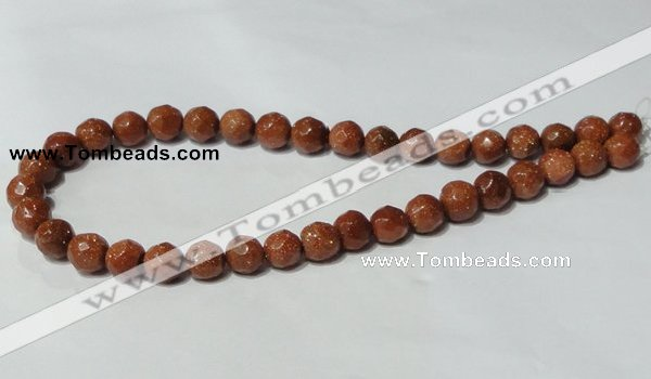 CGS59 15.5 inches 10mm faceted round goldstone beads wholesale