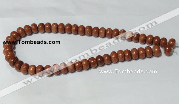 CGS65 15.5 inches 8*12mm rondelle goldstone beads wholesale