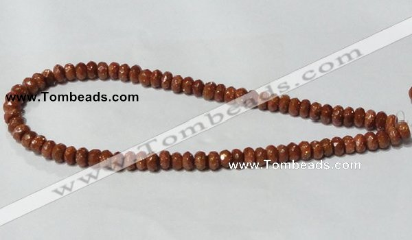 CGS67 15.5 inches 5*8mm faceted rondelle goldstone beads wholesale