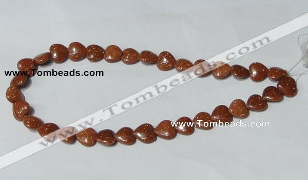 CGS82 15.5 inches 12*12mm heart goldstone beads wholesale