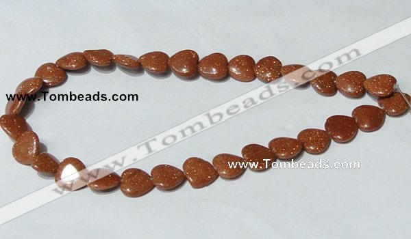 CGS83 15.5 inches 14*14mm heart goldstone beads wholesale