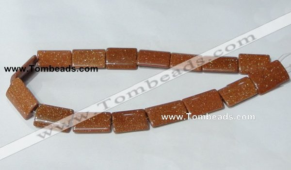 CGS84 15.5 inches 18*25mm rectangle goldstone beads wholesale