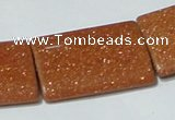 CGS85 15.5 inches 25*35mm rectangle goldstone beads wholesale