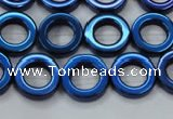 CHE1020 15.5 inches 12mm donut plated hematite beads wholesale