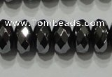 CHE104 15.5 inches 5*8mm faceted rondelle hematite beads wholesale
