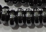CHE111 15.5 inches 5*12mm rondelle large hole hematite beads