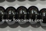 CHE112 15.5 inches 8*13mm rondelle large hole hematite beads