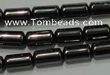 CHE117 15.5 inches 5*8mm tube hematite beads wholesale