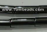 CHE123 15.5 inches 6*16mm tube hematite beads wholesale
