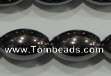 CHE140 15.5 inches 10*15mm rice hematite beads wholesale