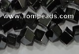 CHE186 15.5 inches 4*4mm cube hematite beads wholesale