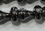 CHE193 15.5 inches 12*18mm calabash hematite beads wholesale