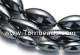 CHE20 16 inches 6*12mm & 8*20mm & 10*20mm rice hematite beads