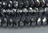 CHE2001 15.5 inches 4*6mm faceted rondelle hematite beads