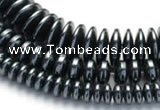 CHE21 16 inches 4mm & 8mm & 12mm coin hematite beads wholesale