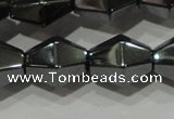CHE217 15.5 inches 10*10mm faceted bicone hematite beads wholesale