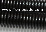 CHE239 15.5 inches 1*6mm dish hematite beads wholesale