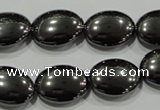 CHE279 15.5 inches 13*18mm oval hematite beads wholesale