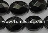 CHE284 15.5 inches 13*18mm faceted oval hematite beads wholesale