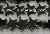 CHE294 15.5 inches 8mm star hematite beads wholesale