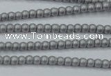 CHE418 15.5 inches 2mm round matte plated hematite beads wholesale