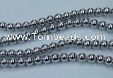 CHE421 15.5 inches 2mm round plated hematite beads wholesale