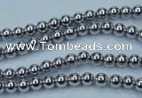 CHE422 15.5 inches 3mm round plated hematite beads wholesale