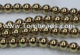 CHE433 15.5 inches 6mm round plated hematite beads wholesale