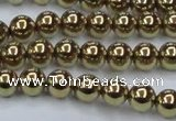 CHE434 15.5 inches 8mm round plated hematite beads wholesale