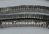 CHE579 15.5 inches 1*4*4mm square plated hematite beads wholesale