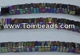 CHE585 15.5 inches 1*4*4mm square plated hematite beads wholesale