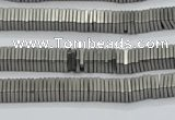 CHE625 15.5 inches 1*3*3mm square matte plated hematite beads