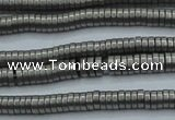 CHE675 15.5 inches 1*3mm tyre matte plated hematite beads