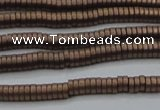 CHE682 15.5 inches 1*4mm tyre matte plated hematite beads