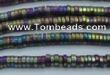 CHE684 15.5 inches 1*4mm tyre matte plated hematite beads
