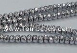 CHE732 15.5 inches 2*4mm faceted rondelle plated hematite beads