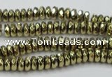 CHE738 15.5 inches 3*6mm faceted rondelle plated hematite beads