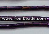 CHE749 15.5 inches 3*5mm tube plated hematite beads wholesale
