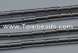 CHE760 15.5 inches 2*4mm tube plated hematite beads wholesale